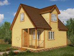 Дом из бруса проект Доминик - вид 1