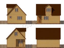 Дом из бруса проект Доминик - вид 2