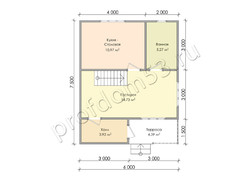 Дом из бруса проект Доминик - вид 3