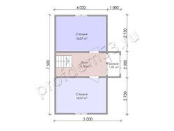 Дом из бруса проект Доминик - вид 4