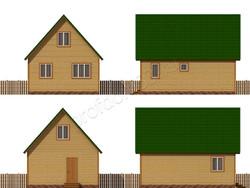 Дом из бруса проект Дорофей - вид 2