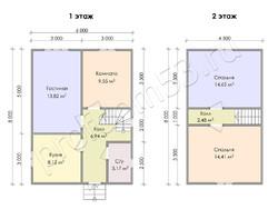 Дом из бруса проект Дорофей - вид 3