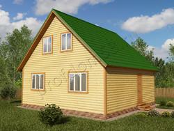 Дом из бруса проект Джамал - вид 1