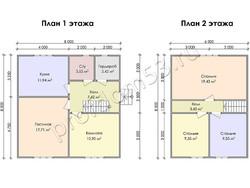 Дом из бруса проект Джамал - вид 3