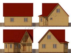 Дом из сухого бруса проект Джонатан - вид 2