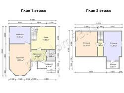 Дом из сухого бруса проект Джонатан - вид 3