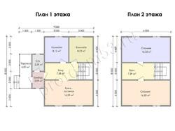 Дом из бруса проект Джозеф - вид 3