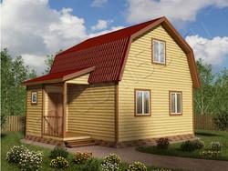 Дом из сухого бруса проект Эдуард - вид 1