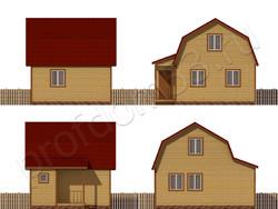 Дом из сухого бруса проект Эдуард - вид 2