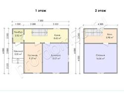 Дом из сухого бруса проект Эдуард - вид 3