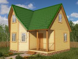 Дом из бруса проект Ефрем - вид 1