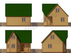 Дом из бруса проект Ефрем - вид 2