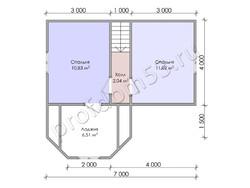 Дом из бруса проект Ефрем - вид 4