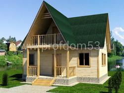 Дом из бруса проект Егор - вид 1
