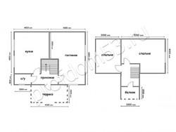 Дом из бруса проект Егор - вид 2