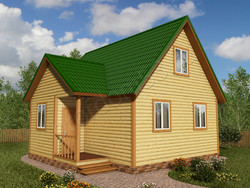 Дом из бруса проект Еким - вид 1