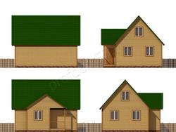 Дом из бруса проект Еким - вид 2