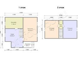 Дом из бруса проект Еким - вид 3