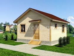 Дом из бруса проект Эльдар - вид 1