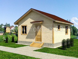 Дом из сухого бруса проект Эльдар - вид 1