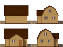 Дом из бруса проект Емельян - вид 2