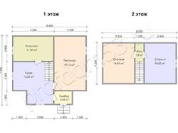 Дом из бруса проект Емельян - вид 3