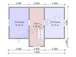 Дом из бруса проект Емельян - вид 4