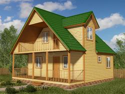 Дом из бруса проект Эраст - вид 1