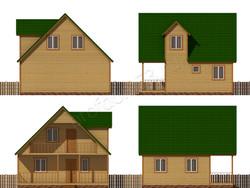 Дом из бруса проект Эраст - вид 2