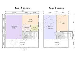 Дом из бруса проект Эраст - вид 3
