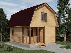 Дом из бруса проект Еремей - вид 1
