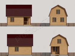 Дом из бруса проект Еремей - вид 2