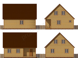 Дом из бруса проект Ермолай - вид 2