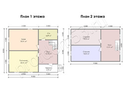 Дом из бруса проект Ермолай - вид 3