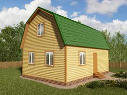Дом из бруса проект Эрнест - вид 1