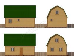Дом из бруса проект Эрнест - вид 2