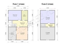 Дом из бруса проект Эрнест - вид 3