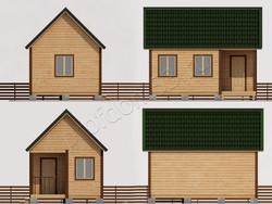 Дом из сухого бруса проект Евдоким - вид 2