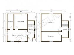 Дом из бруса проект Евгений - вид 2