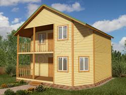 Дом из бруса проект Евграф - вид 1