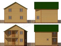 Дом из бруса проект Евграф - вид 2