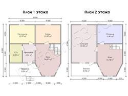 Дом из бруса проект Евграф - вид 3