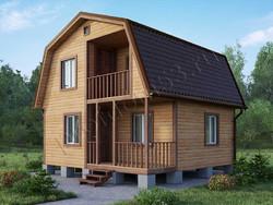 Дом из бруса проект Евсей - вид 1