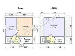 Дом из бруса проект Евсей - вид 2