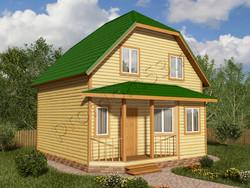 Дом из бруса проект Евстахий - вид 1