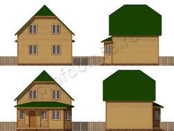 Дом из бруса проект Евстахий - вид 2
