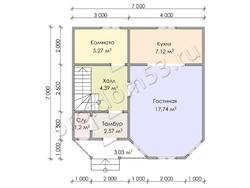 Дом из бруса проект Евстахий - вид 3