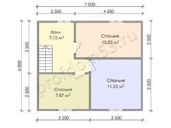 Дом из бруса проект Евстахий - вид 4