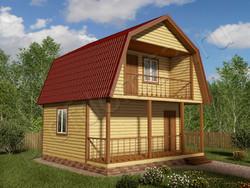 Дом из бруса проект Фадей - вид 1