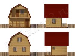 Дом из бруса проект Фадей - вид 2